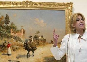Баронесса Кармен Сервера на открытии музея